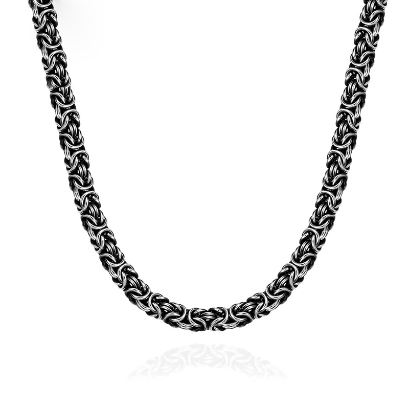 Hot Sale 7 mm Mens Chain Silver Tone Stainless Steel Necklace Jewelry For Men