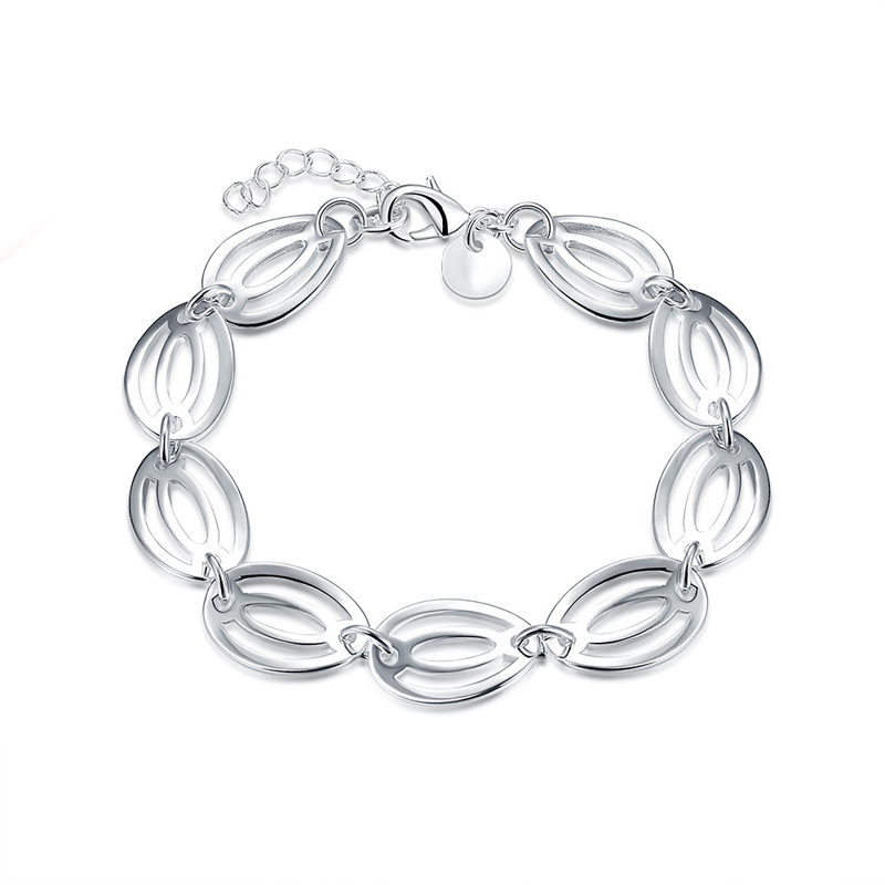 Hollow 925 Sterling Silver Elegant Braclet for Girl