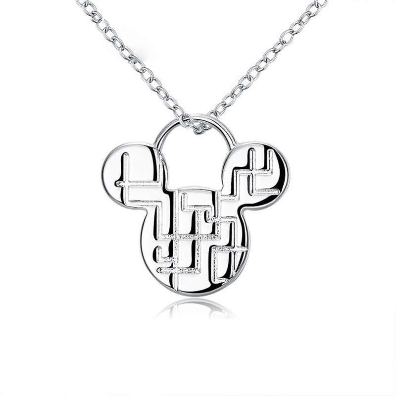 Pendant Necklaces Silver Plated Necklaces Silver Trendy Jewelry Necklaces Wholesale