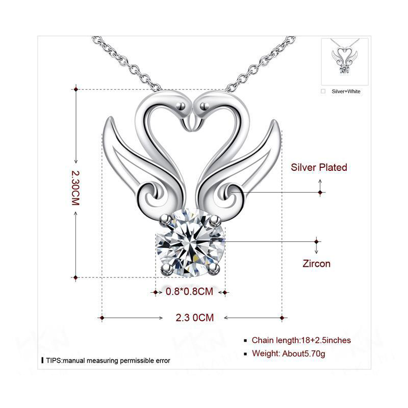 Swan Necklace Rhinestone Women Fashion Large Necklaces With Stones Jewelry Pendants