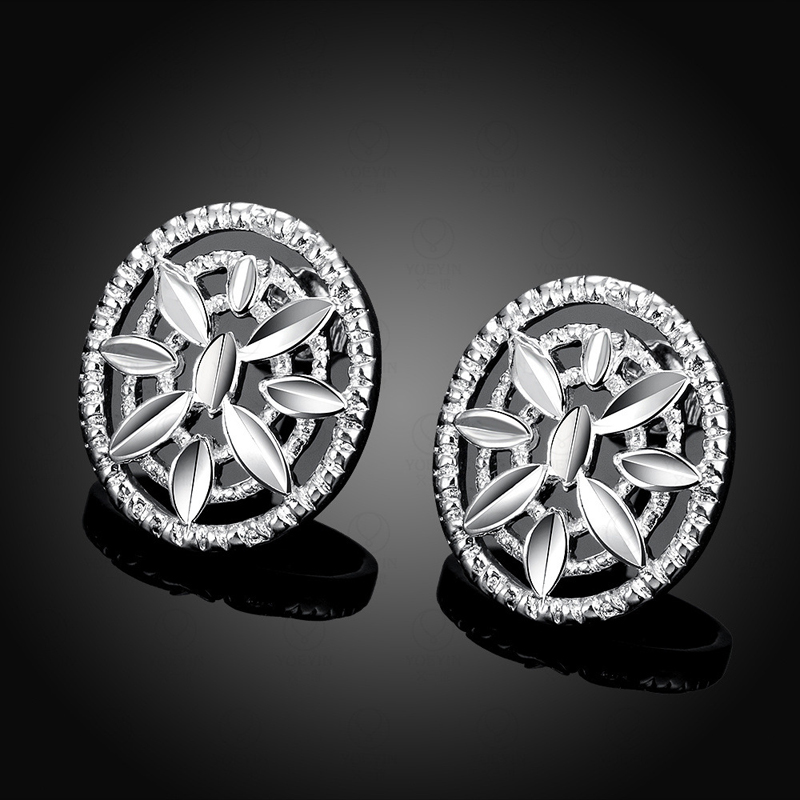 Popular Zircon Earring Girls 925 Silver Jewelry Woman Earings
