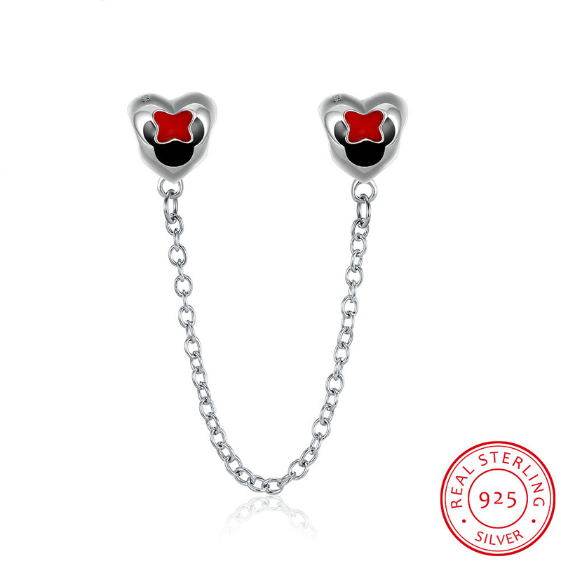 Heart Beads for Jewelry Making Fit Original Pandora Charm Bracelet 925 Sterling Silver Diy Accessories