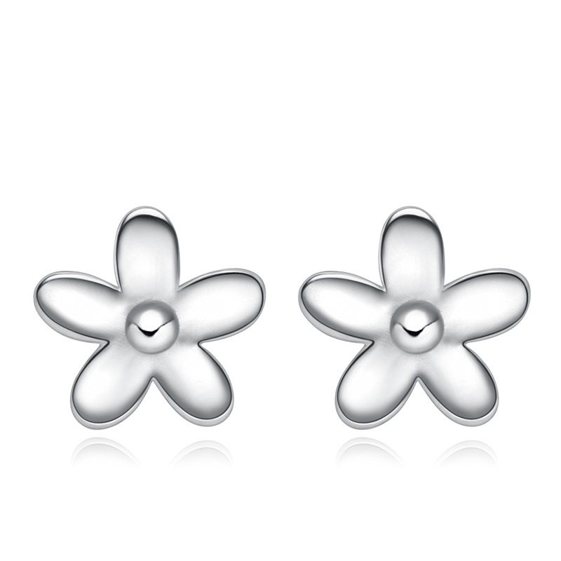 Fashion Chrysanthemum Earrings 925 Sterling Silver for Women B104