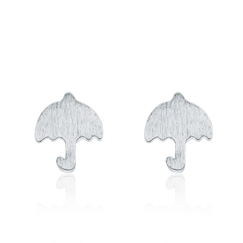 925 Sterling Silver Umbrella Shaped Earrings Geometric Fashion Earrings B254