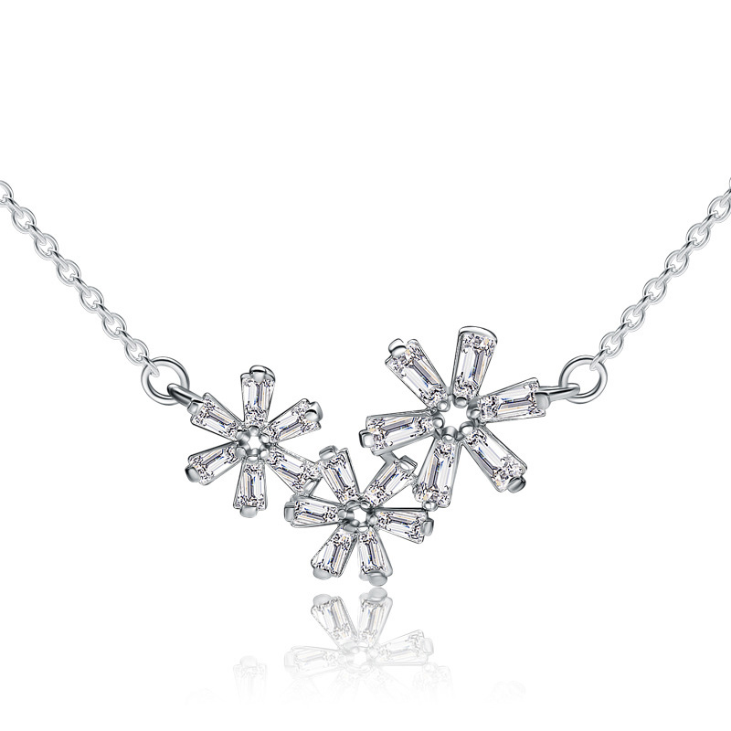 New Snowflake Pendant 925 Sterling Silver for Women A190