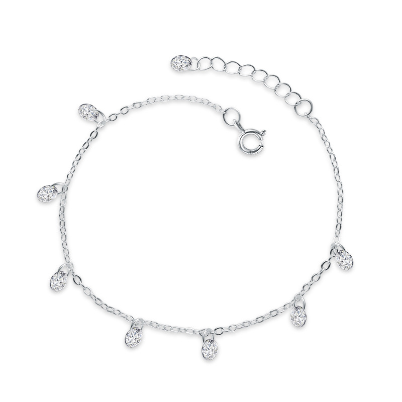 Fashion Jewelry 925 Sterling Silver Bracelet with Diamonds for Women D039