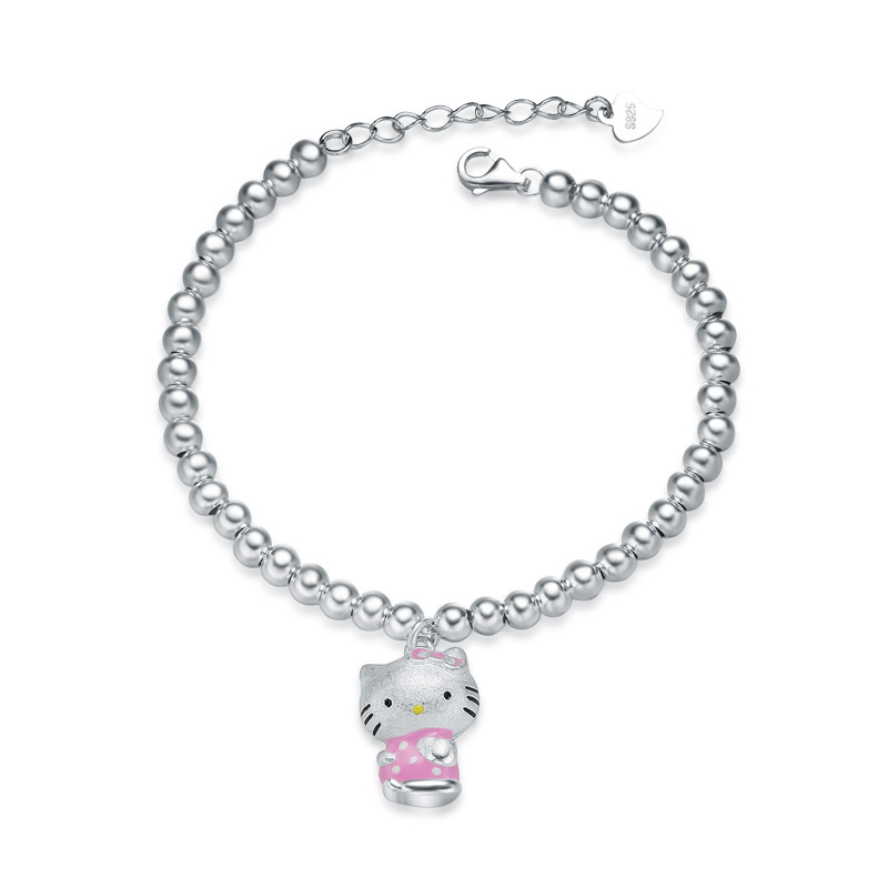 Mini Hello Kitty Bracelet 925 Sterling Silver Fashion Charm Bracelets D056