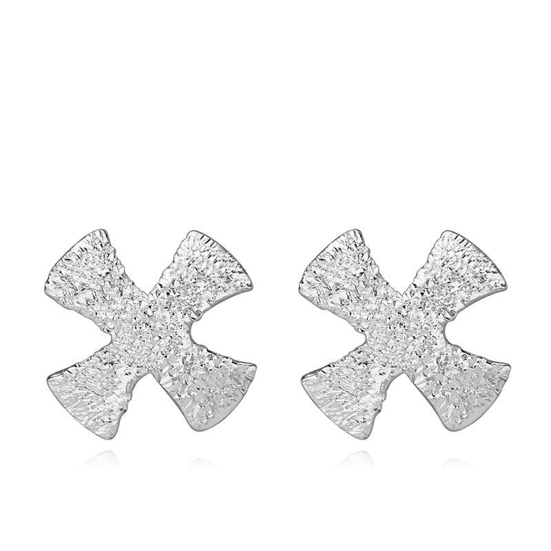 Simple Clover Earrings 925 Sterling Silver Geometry Earrings for Women B109