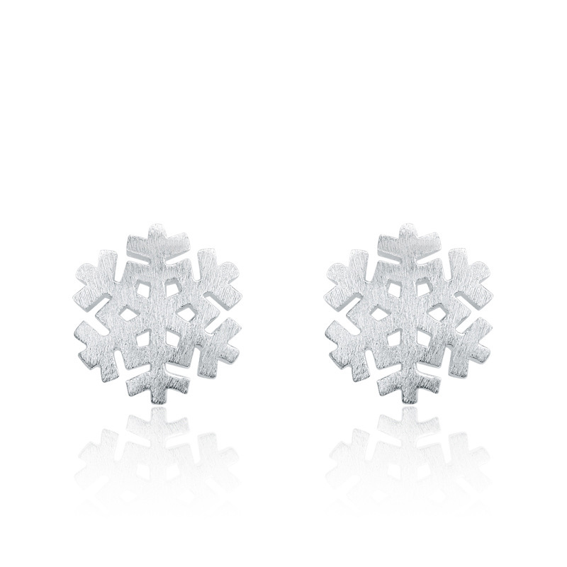 Snowflake Drawing Earings 925 Sterling Silver Fashion Earrings for Women B114
