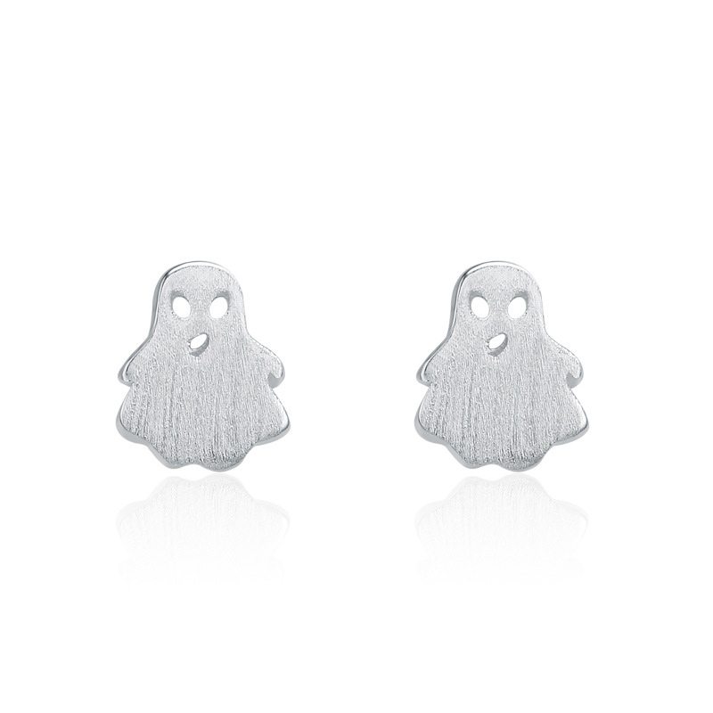 Cartoon Earrings 925 Sterling Silver Fashion Earrings for Women B337