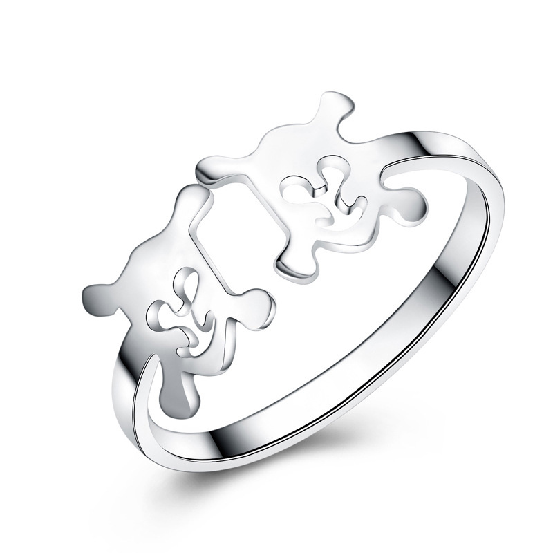Fashion Opening Ring 925 Sterling Silver Adjustable Ring for Women E190