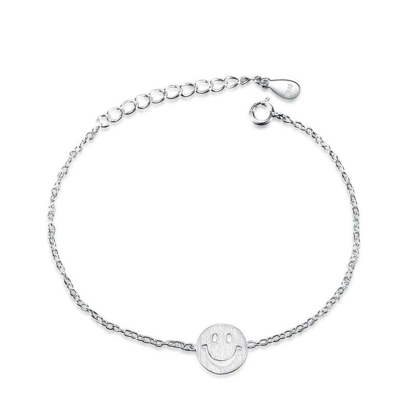 Smiling Face Jewelry 925 Sterling Silver Fashion Bracelet for Women D086