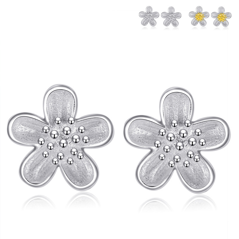 Petal Earrings 925 Sterling Silver Fresh Earrings for Women B249