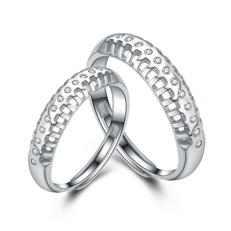 Fashion Ring 925 Sterling Silver Adjustable Ring for Couple I029