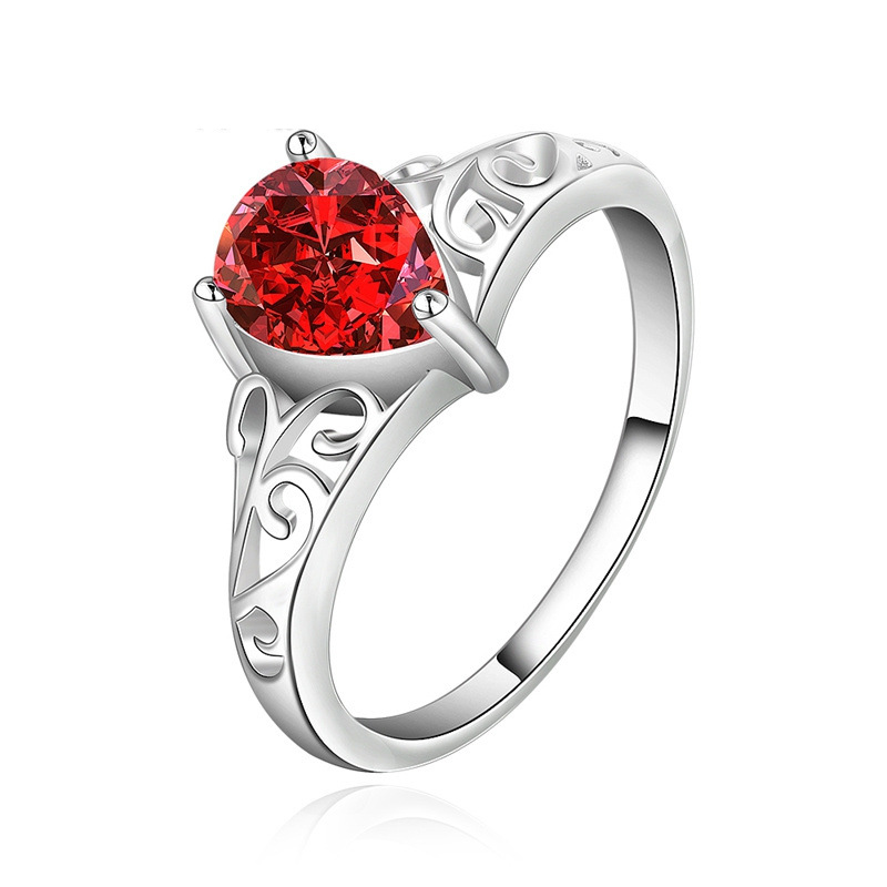 Elegant Gemstone Ring 925 Sterling Silver Jewelry Ring for Women LKNSPCR523