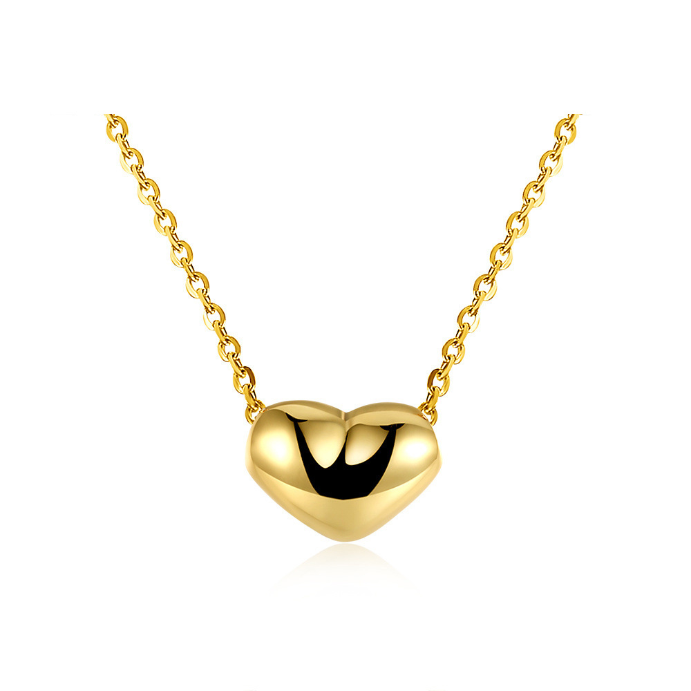 High-end Heart Necklace Gold plated Fashion Pendant for Women LKN18KRGPN638