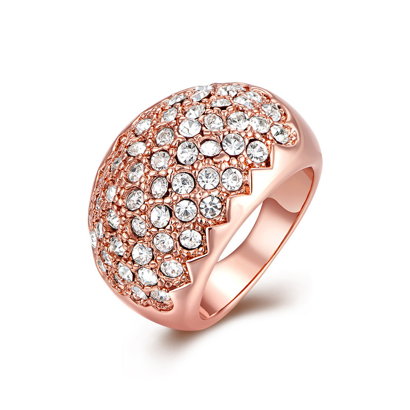 Fashion Personalized Diamond Ring Rose Gold plated Ring for Women KZCN122