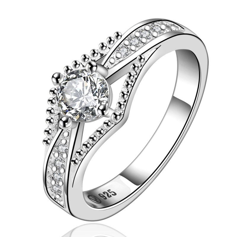 Jewelry Love Engagement Rings for Women Rings Fashion Silver 925 Rings Bague Femme Vintage Ring LKNSPCR597