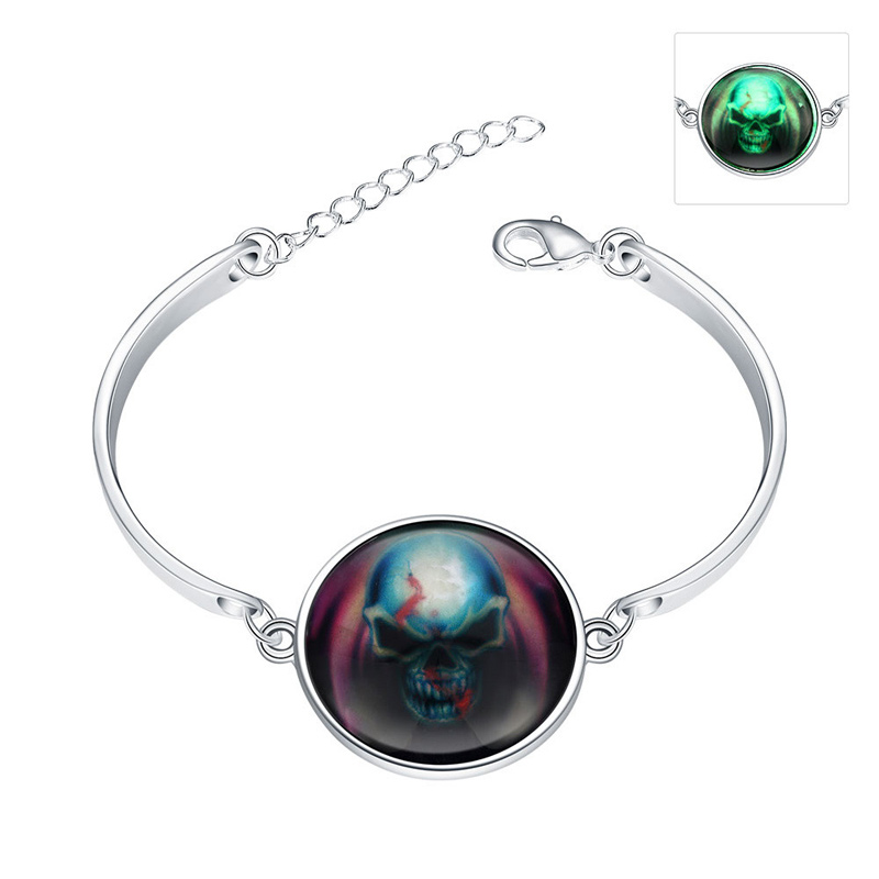 Hot Promotion Fashion Luminous Bracelets Silver plated Gift for Girls Lady YGH016-A