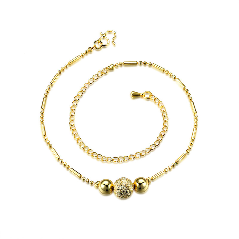Gold Bead Anklet Ankle Bracelets Lovely Chain for Women Fashion Foot Chain Jewelry