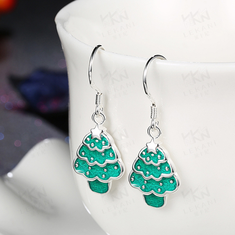 Trees Cute Drop Earrings for Women Girls Aretes Wholesale Low Price Gifts for Girls PCE835