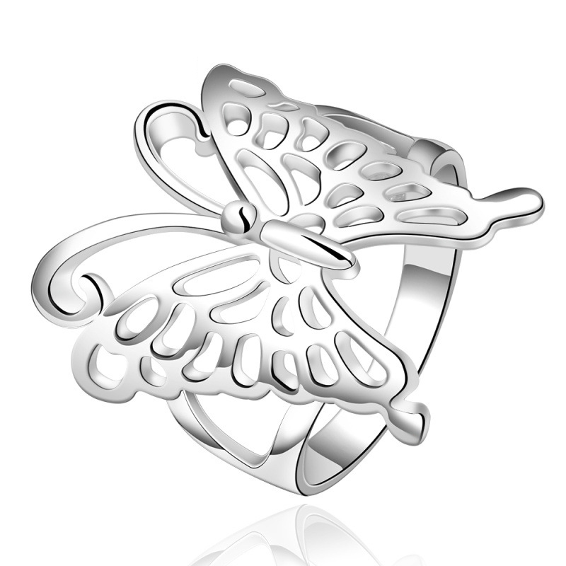 Fashion Animal Ring 925 Sterling Silver Gift For Women Dress Accessories Butterfly Animal Ring