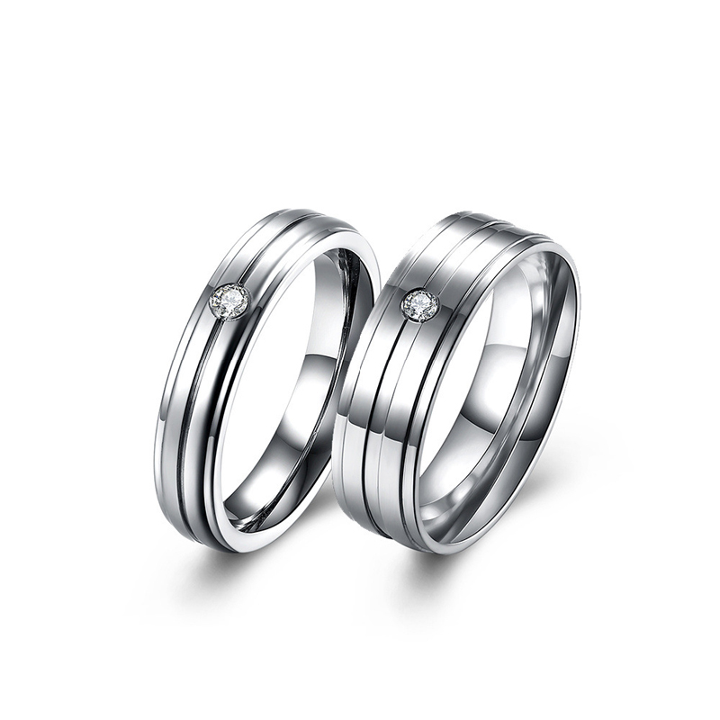 New Designed Classic Stainless Steel Ring Fashion Popular Couple Ring for Men Women TGR161