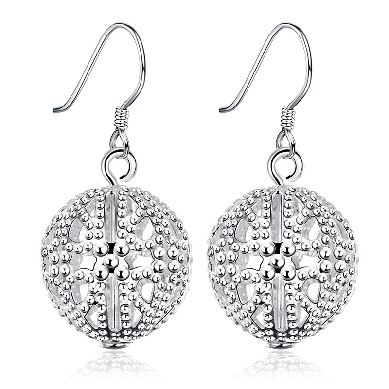 Highly Polished 925 Sterling Silver Chandelier Earrings for Fashion Women E639