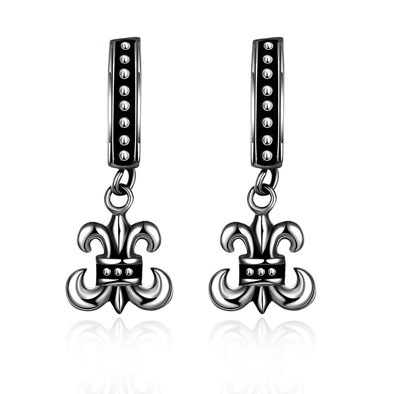 Anchor Earrings Punk Long Tassel Jewelry 316L Stainless Steel Party Earrings for Men GMYE008