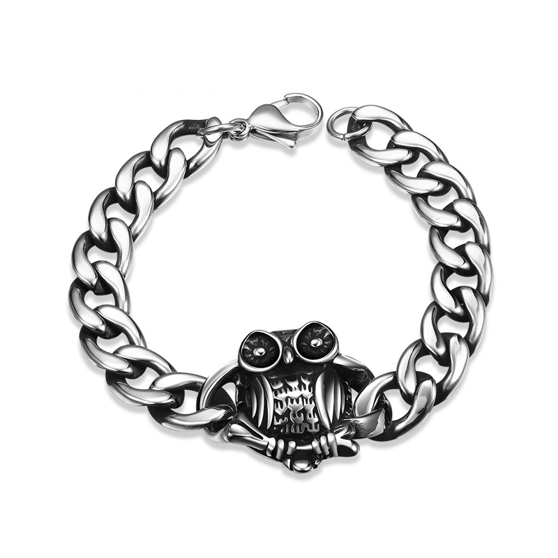 High Quality Jewelry New Cool Punk Bracelet for Man 316 Stainless Steel Man's H002