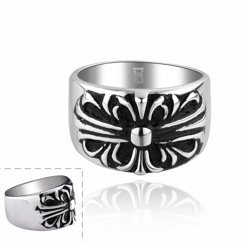 Retro Punk Style Jewelry 316L Stainless Steel Men's Rings Top Quality Rock Star Ring R015