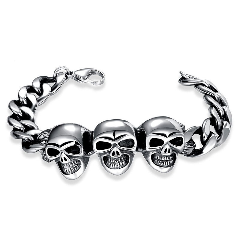 New Cool Punk Bracelet 316 Stainless Steel High Quality Jewelry H032 for Man