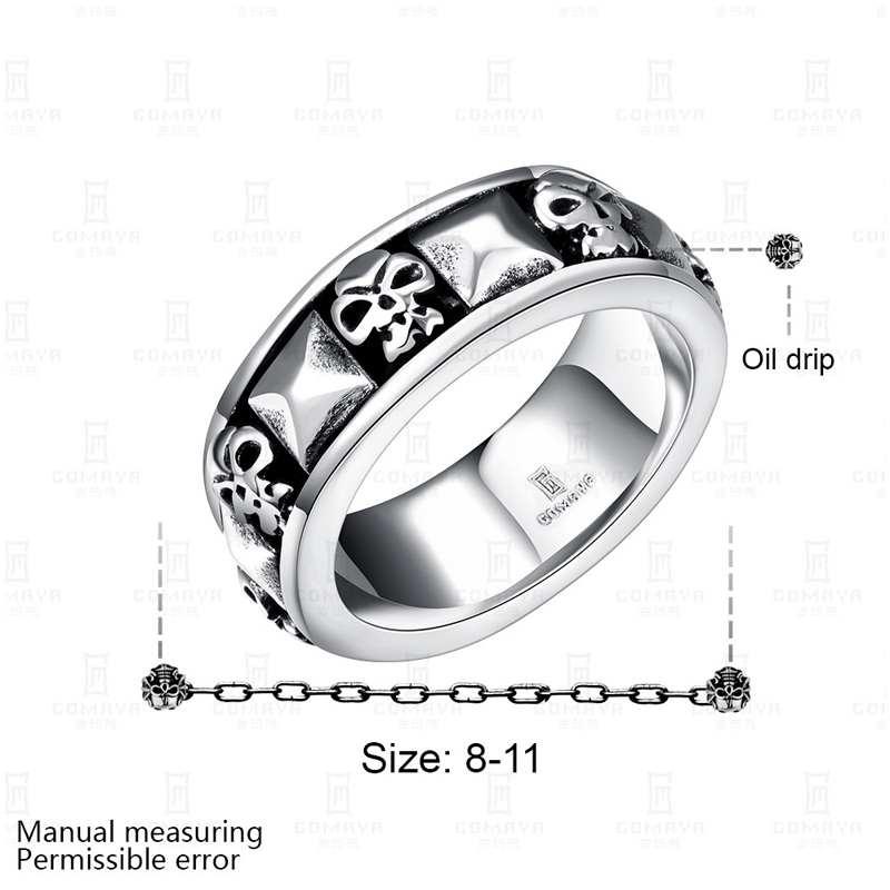 Top Quality Titanium Steel Rings Finger Punk Style 316L Stainless Steel Ring For Men For Men R240
