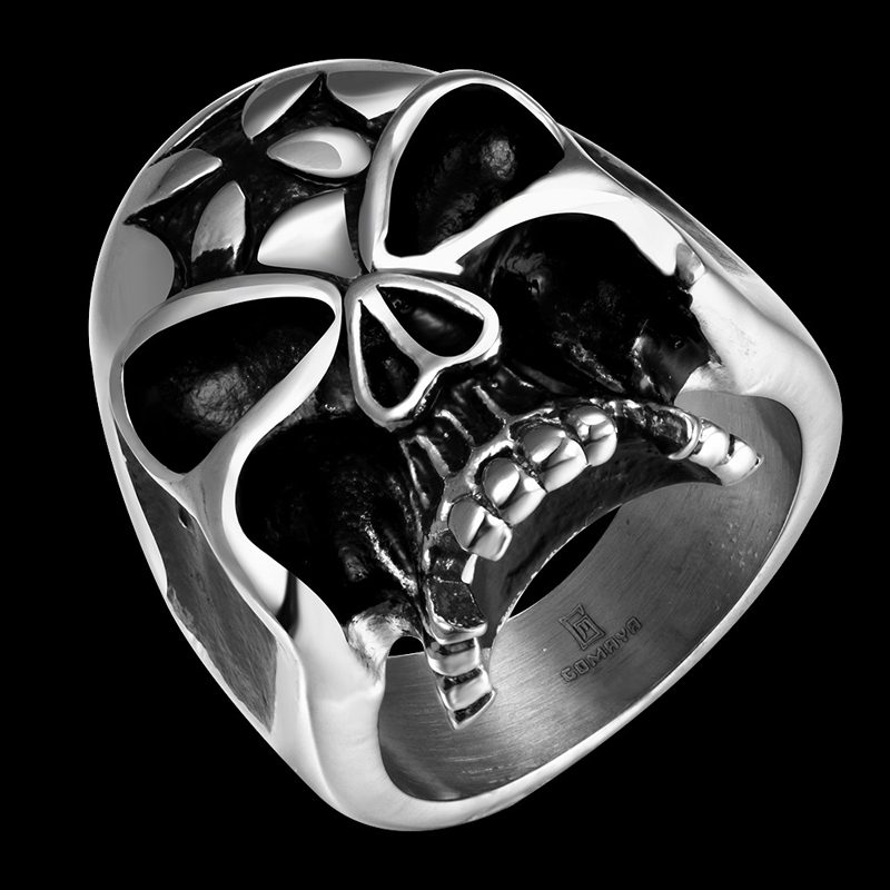Skull Design Ring Punk Style Titanium Fashion Jewelry For Men R052