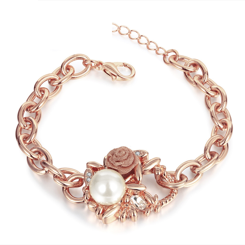 Good Quality Nickle Free Antiallergic New Fashion Jewelry Gold Plated Bracelets Pearl Bracelet for Women