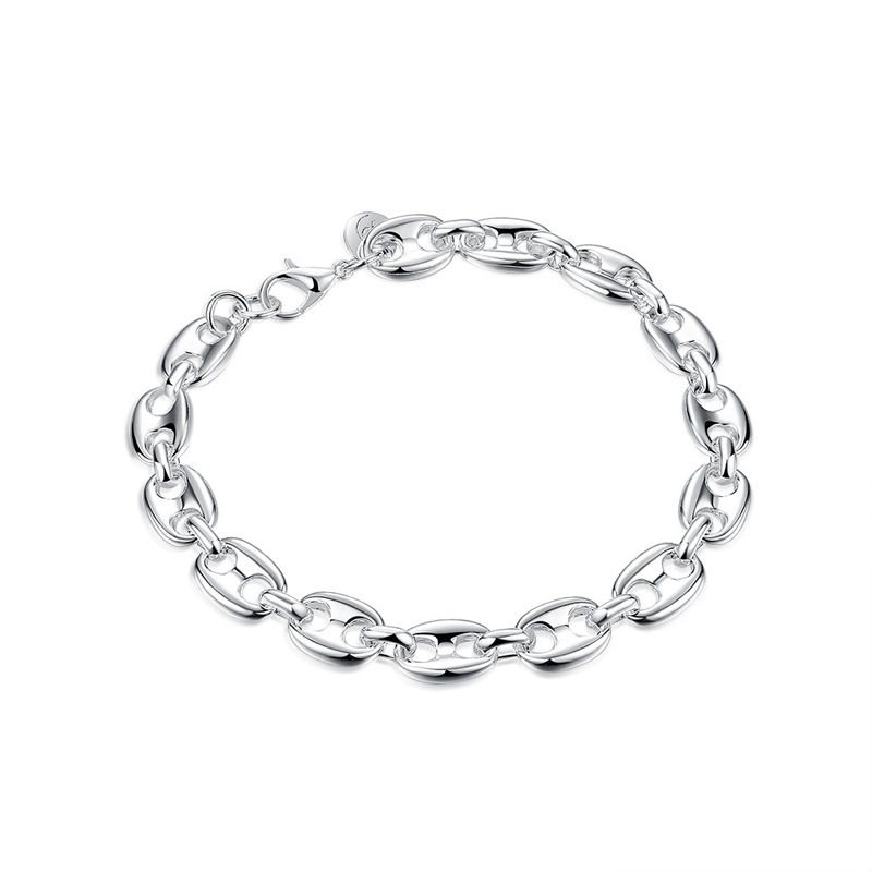 Hot New 925 Sterling Silver Fashion Jewelry Links Charm Bracelets for Women