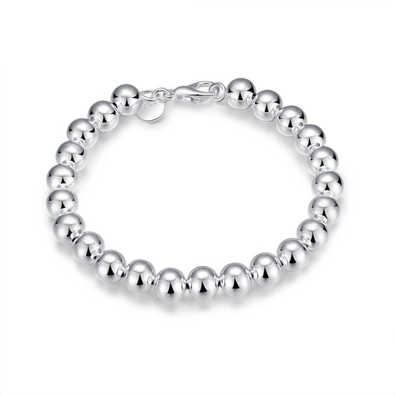 New Arrival 925 sterling silver Fashion 10mm Beads Bracelets&Bangle for Women