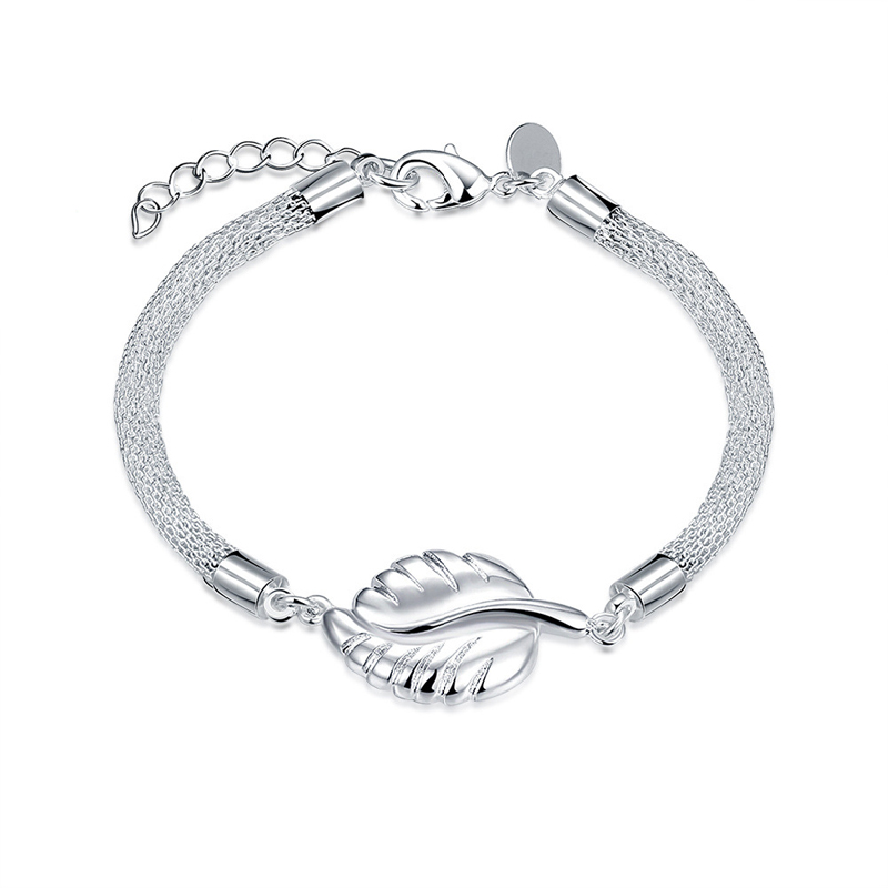 New Arrival Jewelry Leaf Bracelet 925 Sterling Silver Fashion Jewelery for Women