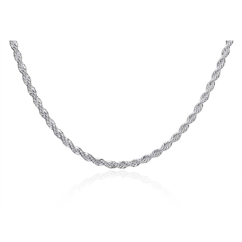Creative Style Chain Choker Necklace 925 Sterling Silver Women Necklaces Collier For Ladies