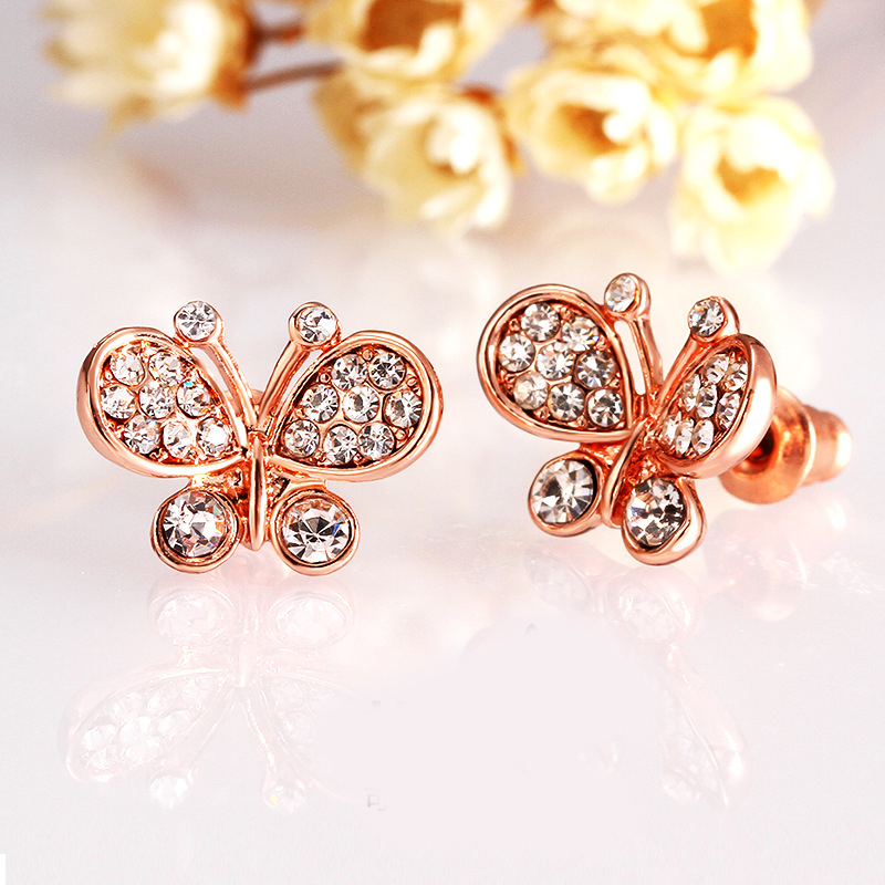 Fashion Design Hot Seller Earrings Gold Plated Fashion Jewelry Butterfly Earrings for Women