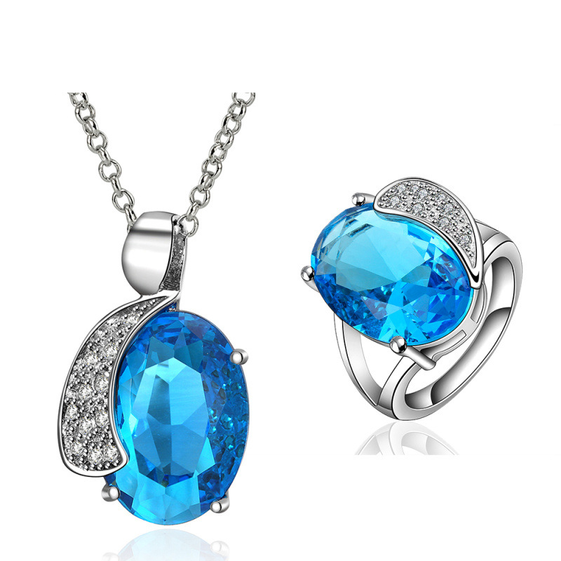 Top Quality Party Jewlery Sets Women Fashion 925 Sterling Silver Crystal Cubic Zircon Items for Women