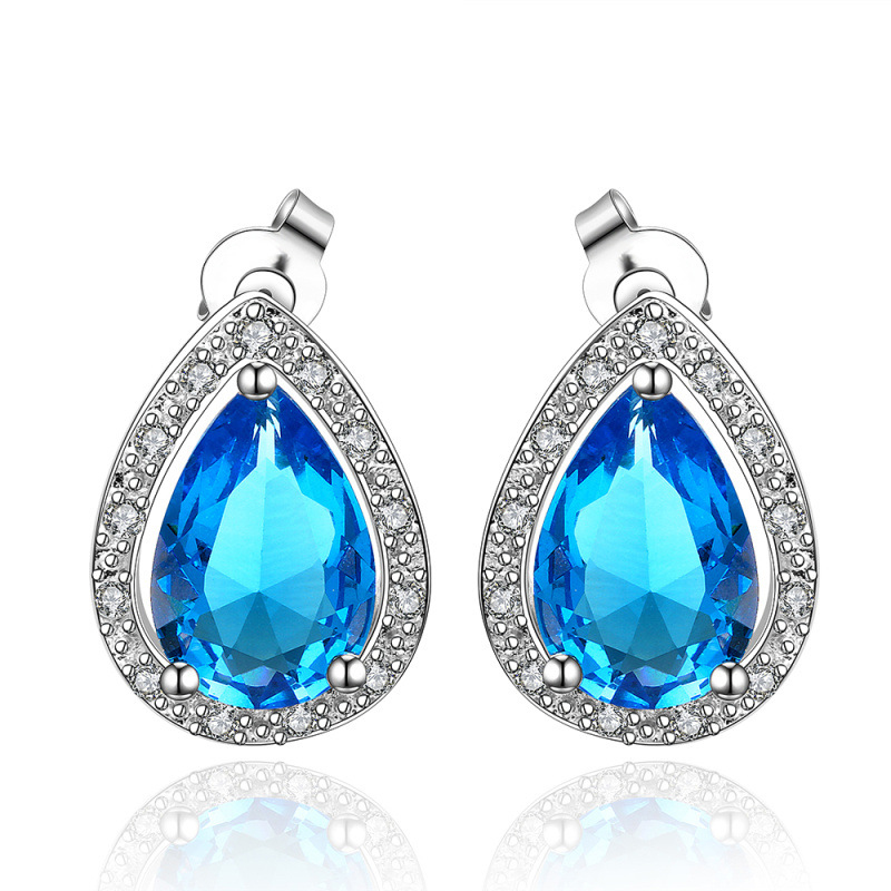 Fashion Jewelry Free Shipping Elegant High End Brass Big Crystal Fashion Zircon Stud Earrings for Women