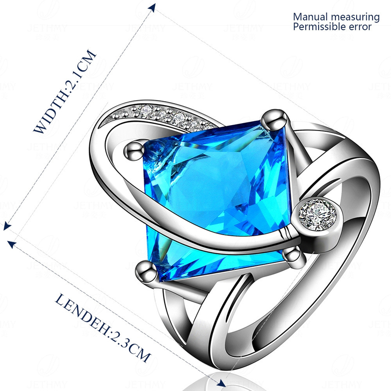 Geometric Design Ring Sporty Style Zirconia Fashion Jewelry For Women Dress Accessories for Women