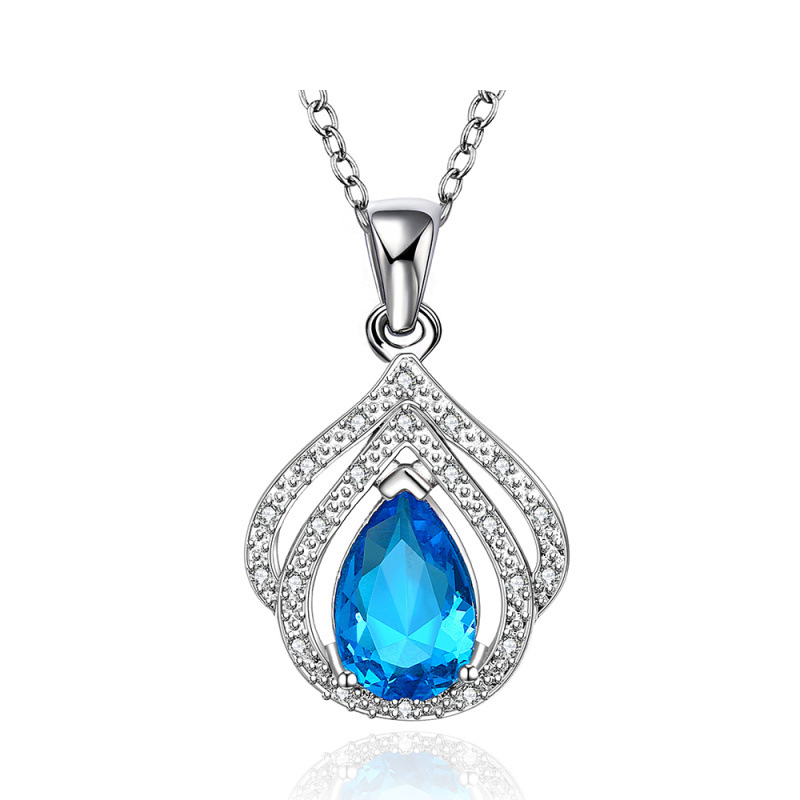 New Fashion Crystal Necklace Jewelry and Pendant for Women Wedding Accessories
