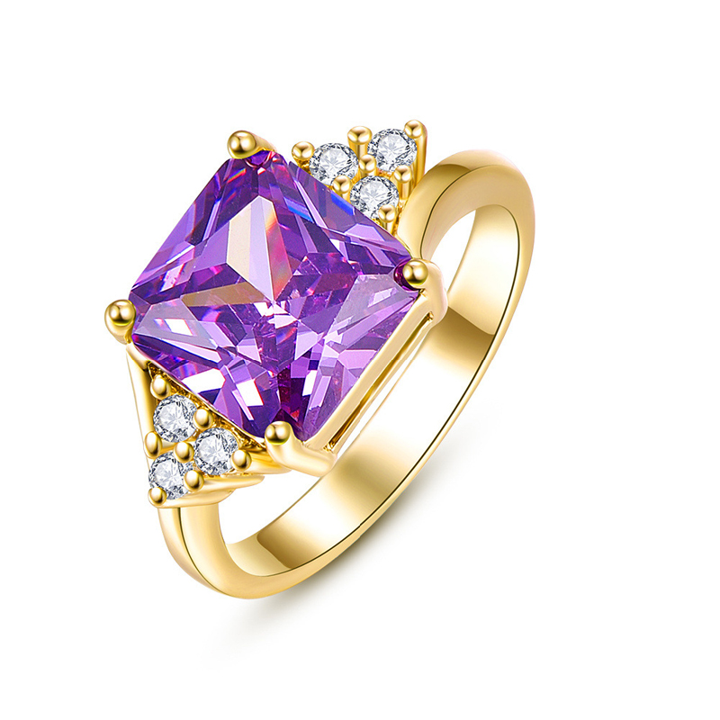 Fashion Jewelry Rings Gold Plated & Rhinestone Dressing Accessories For Women
