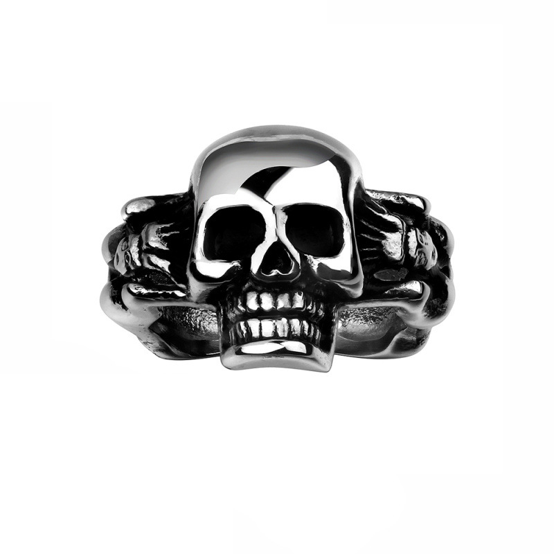 New Design Stylish 316L Stainless Steel Punk with Multi Skull Rings Jewelry for Men