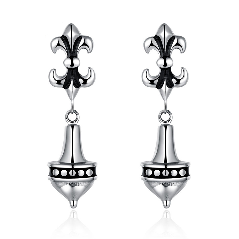 Top Quality Jewelry Earring Stainless Steel Lomg Earrings For Men