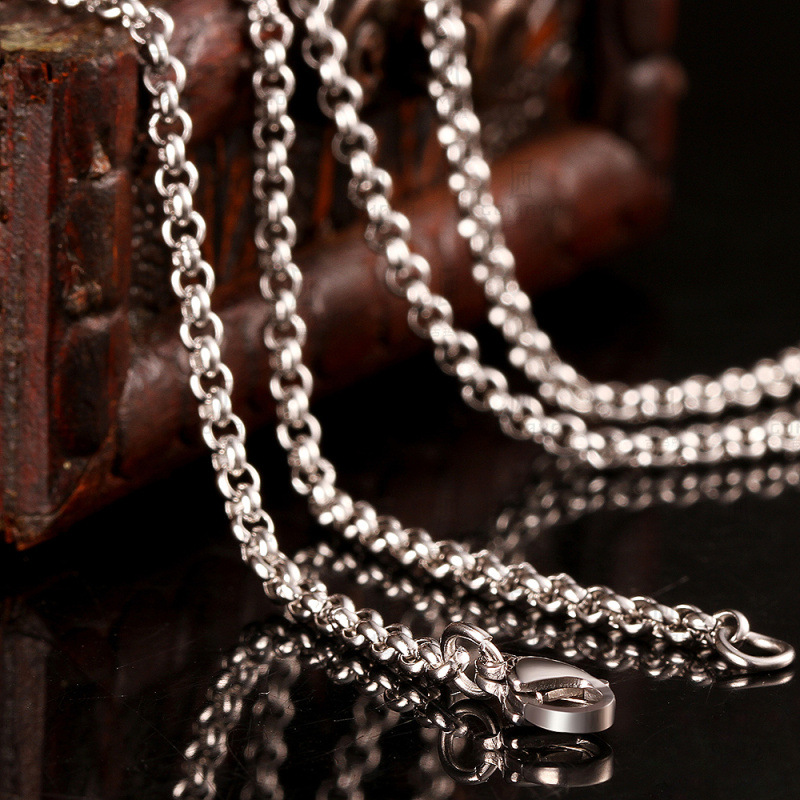 Hot Sale 316L Stainless Steel Chain Necklace 2.5MM 18/20/22/24 Inches Fashion Jewelry for Men