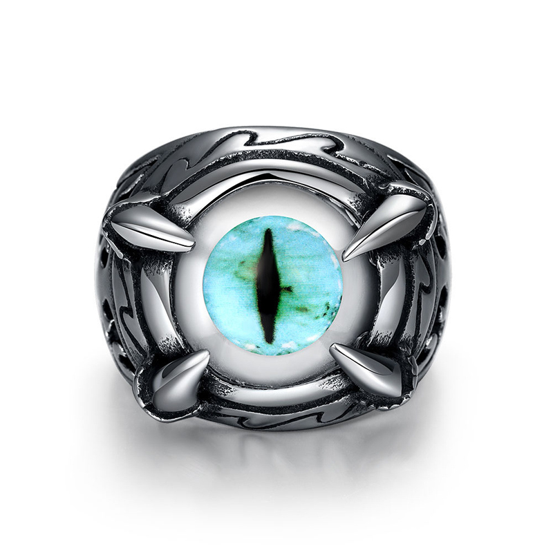 Blue Lakes Eyes Styles Story Film Charactor Enjoy Daily Life Unique Star Celebrity Men Styles Ring for Men