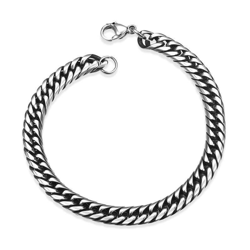 Fashion Jewelry Hottest Punk Fashion Foreigner Stainless Steel Geometric Men Bracelets for Men